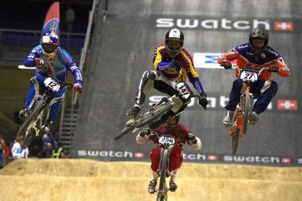 UCI BMX Supercross - Madrid 9.2. 2008 - čtvrtfinále, Michal Prokop končí...