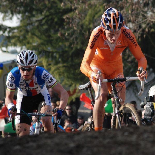 MS CX 2008 Treviso - Zdeněk Štybar a Lars Boom