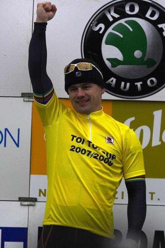 Mistrovství ČR cyklokros, Mnichovo Hradiště 5.1. 2008 - Zdeněk Mlynář, vítěz TOI TOI Cupu 2008