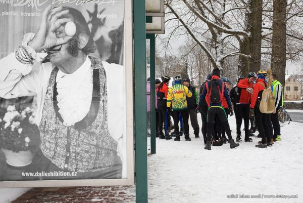 Novoroční vyjížďka v Jablonci nad Nisou, foto: Miloš Lubas