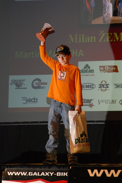 vyhlášení Galaxy série 2007 - nejlepší mladší žák Milan Žemlička