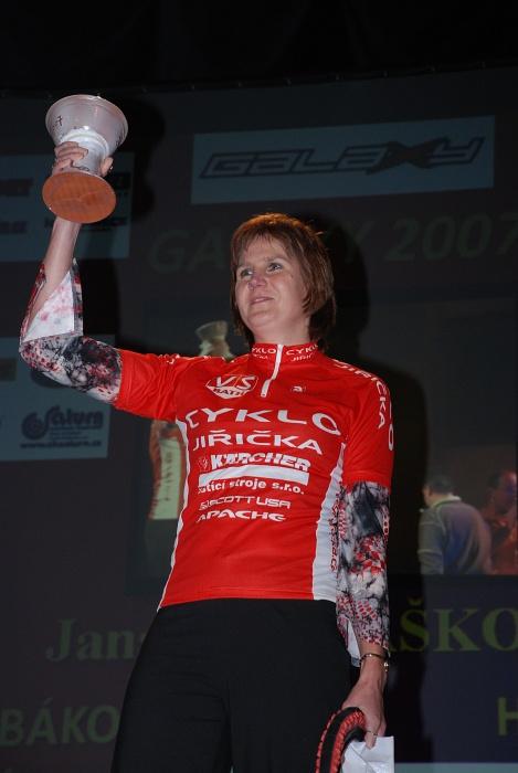 vyhlášení Galaxy série 2007 - Jana Matlášková (vítězka kat. Ženy nad 40)