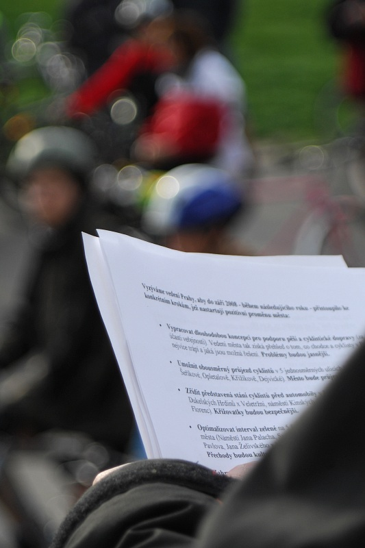 Pražská jarní cyklojízda 2008 - Chceme...