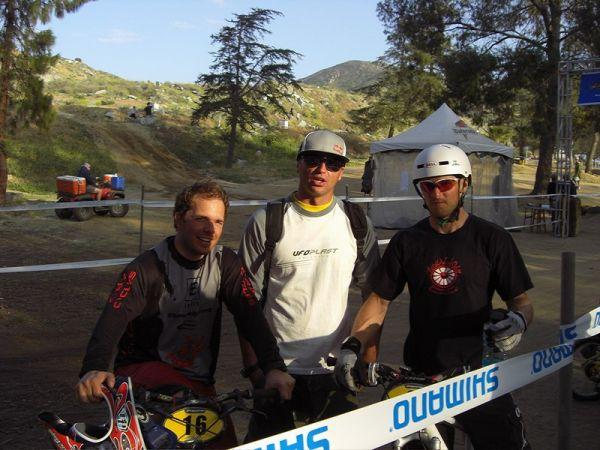 NMBS 2008 Fontana, Kalifornie USA - Michal Prokop s Jakubem Hnidákem a Petr Hanák