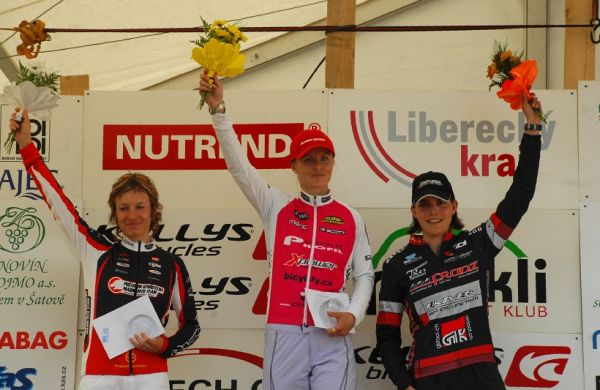 ČP XCM #1 2008 - Malevil Cup - ženy Elite 102km: 1. Radová, 2. Krnáčová, 3. Landtwing