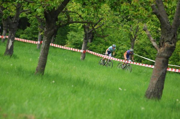 Český pohár XC Teplice, 8.5.2008 - Jakub Magnusek a Rus Pryadein