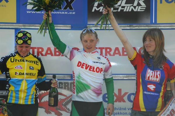 Český pohár XC Teplice, 8.5.2008 - ženy: 1. Havlíková, 2. Krompets, 3. Němcová