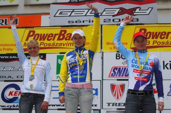 PowerBar MTB Pos�zav�m 2008 - �eny: 1. Bublov�, 2. Loubkov�, 3. Stola�ov�