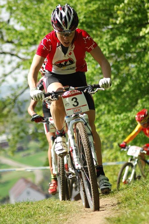 SP XC #2 2008 Offenburg - Marie-Helene Premont na �ele s Fullanou a Ying v z�dech