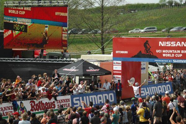 SP XC #2 2008 Offenburg - Julien Absalon vítězí