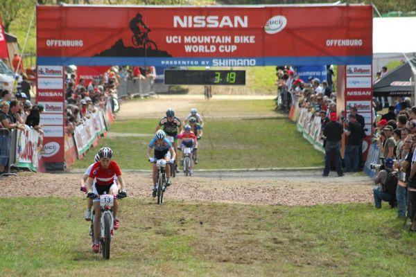 SP XC #2 2008 Offenburg - junioři - juniorky po zaváděcím kole