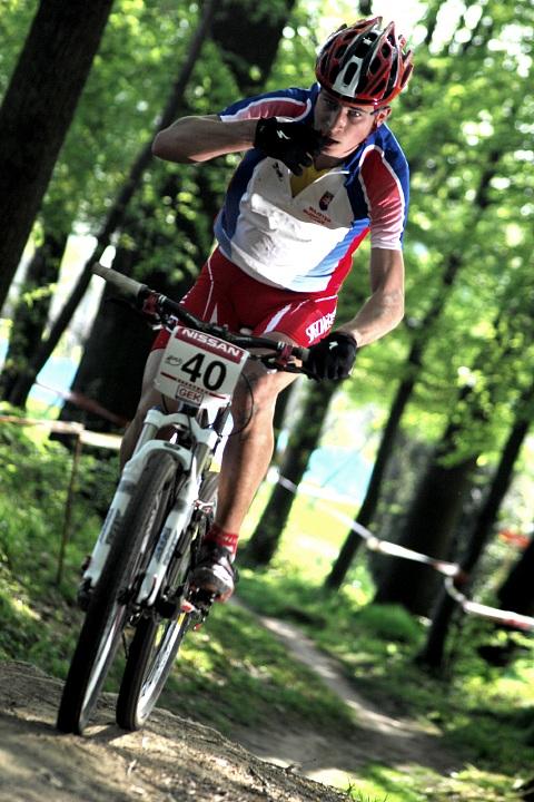 SP XC #2 2008 Offenburg - junioři - Sagan v posledním kole