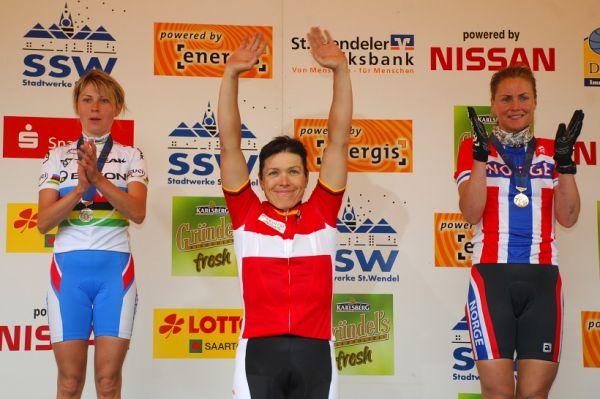ME XC 2008 St. Wendel - ženy Elite: 1. Spitz, 2. Kalentieva, 3. Dahle