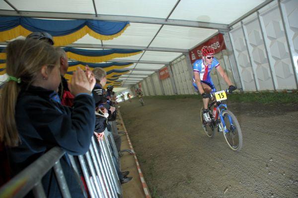 ME XC 2008 St. Wendel - muži Elite - Jára Kulhavý ve stanu