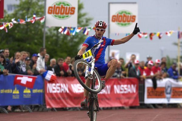 Mistrovství Evropy - 17.5.2008, St. Wendel/GER -zvednutá LEVAČKA Petera Sagana znamená jediné..... zlato!