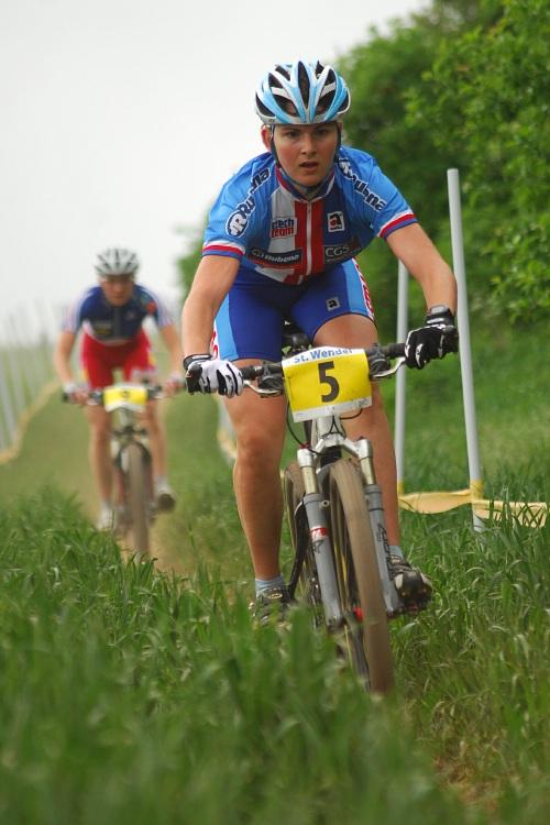 ME XC 2008, St. Wendel - juniorky: poslední chvíle v závodě Jitky Škarnitzlové