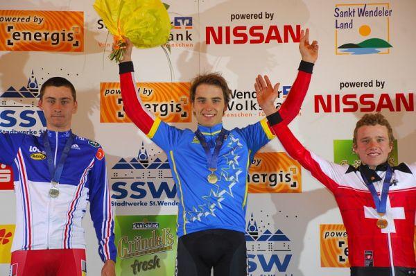 ME XC 2008, St. Wendel - muži U23: 1. Schurter, 2. Tempier, 3. Fluckiger