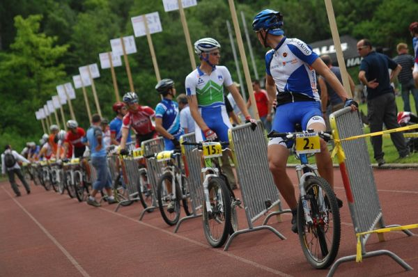 Mistrovství Evropy 2008 St. Wendel (GER) - štafety - čekání na první předávku