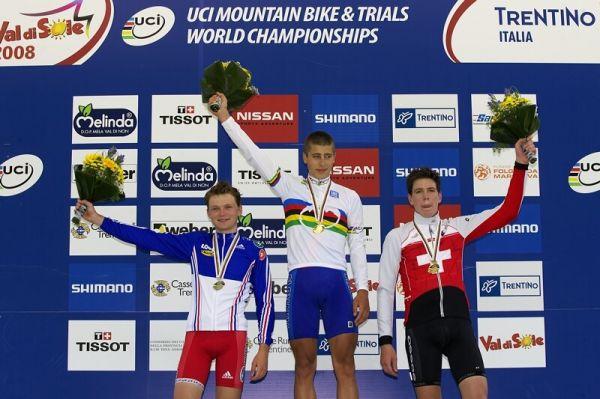 UCI MTB Wolrd Championship 2008 - Val di Sole/ITA - 19.6. - 1. Sagan, 2. Jouffroy, 3. Rupp