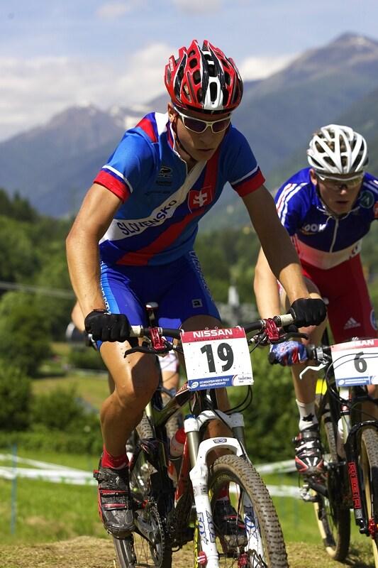 UCI MTB Wolrd Championship 2008 - Val di Sole/ITA - 19.6. - Peter Sagan s Arnaudem Jouffroyem