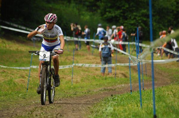 MS MTB 2008 Val di Sole: XC juniorky - Laura Abril /COL/