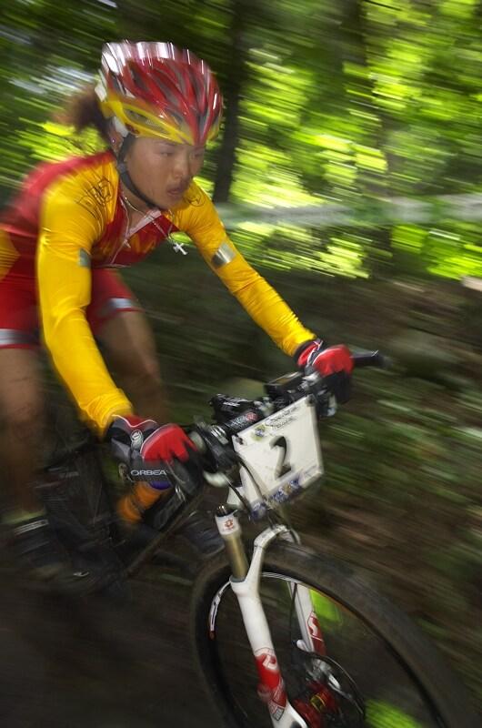 UCI MTB World Championship 2008 - Val di Sole/ITA - 18.6. - favoritka Chengyuan Ren neusp�la