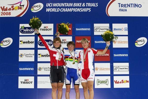 UCI MTB World Championship 2008 - Val di Sole/ITA - 18.6. - 1. Zakelj, 2. Schneitter, 3. Dawidowicz
