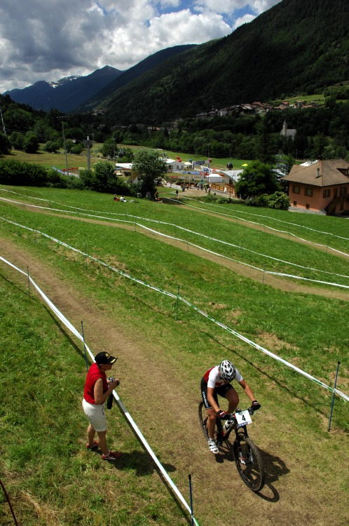 MS MTB 2008 Val di Sole - �eny U23: �v�carka Schneitter druh�