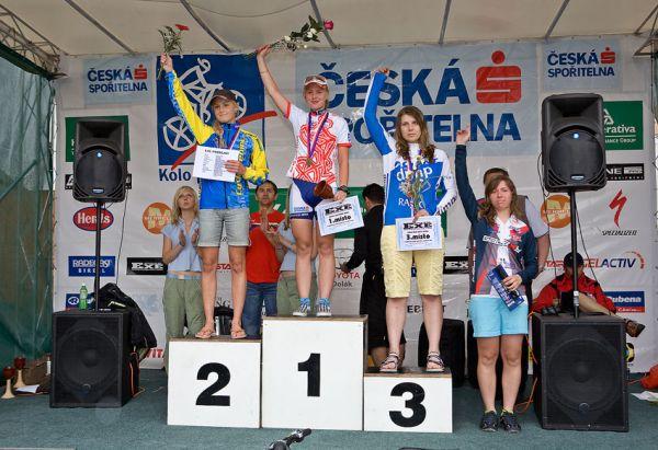 Kolo pro život/český pohár 1/2 XCM - 7.6. 2008 Jistebnice - 1. Valešová, 2. Jarošová, Vaňková, 4. Drengubáková