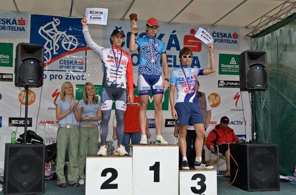 Kolo pro život/český pohár 1/2 XCM - 7.6. 2008 Jistebnice - junioři: 1. Waldman, 2. Buksa, 3. Harazim