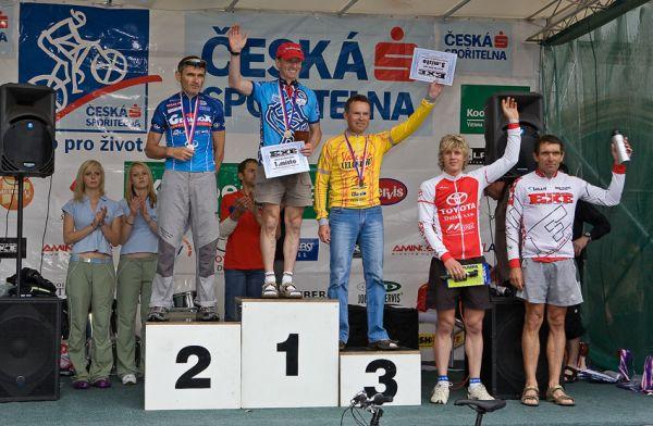 Kolo pro život/český pohár 1/2 XCM - 7.6. 2008 Jistebnice - muži 50-59: 1. Kocian, 2. Šťastný, 3. Krupička, 4. Ibehej, 5. Huja