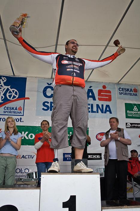 Kolo pro život/český pohár 1/2 XCM - 7.6. 2008 Jistebnice - Tomáš Papouch - nejurostlejší biker