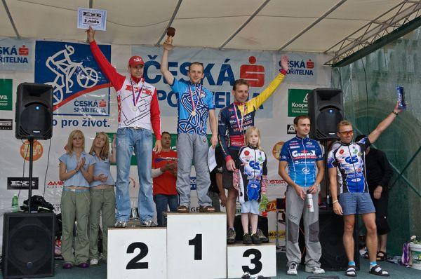 Kolo pro život/český pohár 1/2 XCM - 7.6. 2008 Jistebnice - muži 30-39: 1. Janota, 2. Jelínek, 3. Soukup, 4. Matějka, 5. Soukup