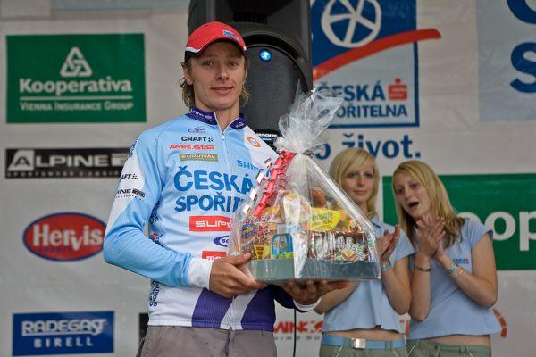 Kolo pro život/český pohár 1/2 XCM - 7.6. 2008 Jistebnice - nejrychlejší muž Jistebnice Pavel Zezan