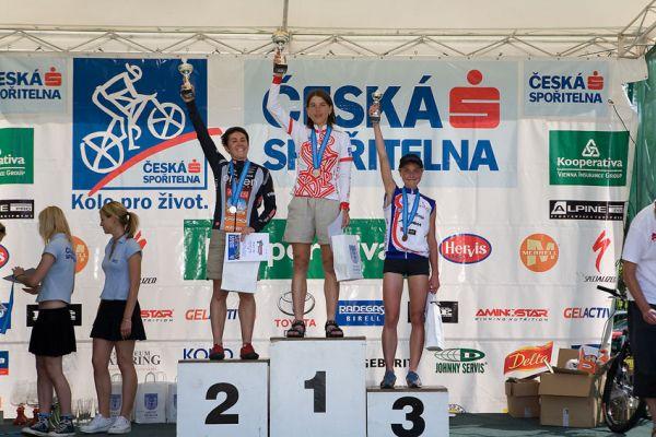 Kolo pro život - Příbramský permoník české spořitelny - 31.5. 2008 - ženy 19-29: 1. Kottová, 2. Čuříková, 3. Černá