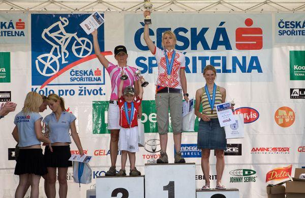 Kolo pro život - Příbramský permoník české spořitelny - 31.5. 2008 - ženy 30-39: 1. Procházková, 2. Půlpánová, 3. Mílová-Wewiora