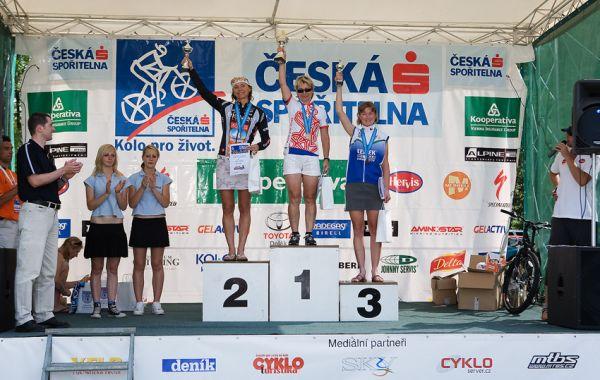 Kolo pro život - Příbramský permoník české spořitelny - 31.5. 2008 - ženy 40+: 1. Špalková, 2. Linková, 3. Antonínová