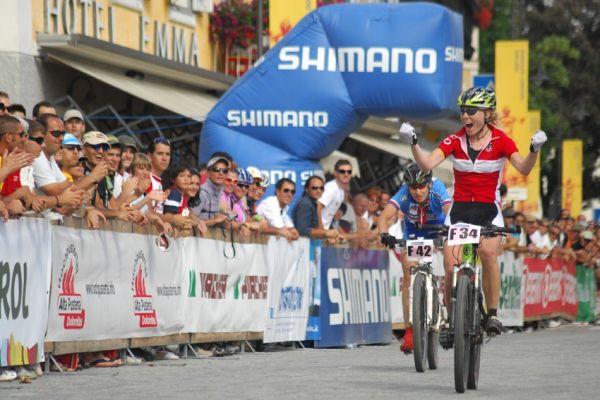 MS Maraton 2008 - Villabassa /ITA/ - Alena Krnáčová prohrává spurt s Němkou