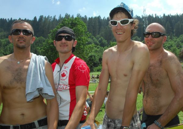 MS MTB Val di Sole '08 - XC Elite: čeští fanoušci - kafíčkáři