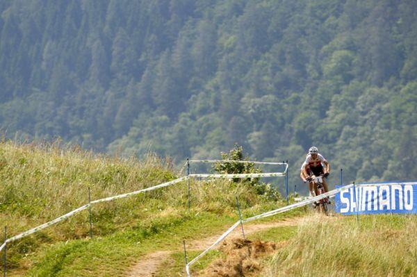 MS MTB Val di Sole '08 - XC Elite: Sauser a Vogel na čele