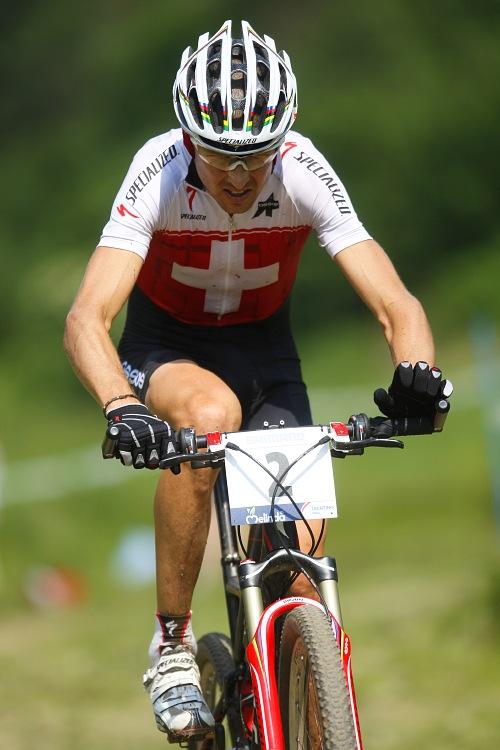 MS MTB Val di Sole '08 - XC Elite: Christoph Sauser na �ele u� osamocen