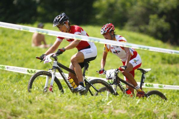 MS MTB 2008 Val di Sole - XC ženy: Sabine Spitz a Marga Fullana