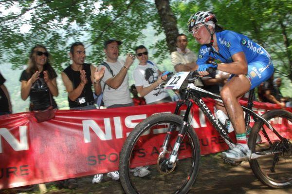 MS MTB 2008 Val di Sole - XC ženy: Mohutně povzbuzovaná Eva Lechner