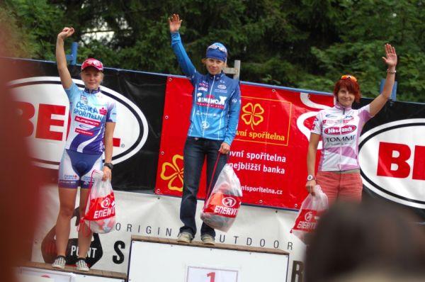 XI. BELL Šumavský maraton '08: ženy 42km - 1. Kábrtová, 2. Valešová, 3. Kubáčová