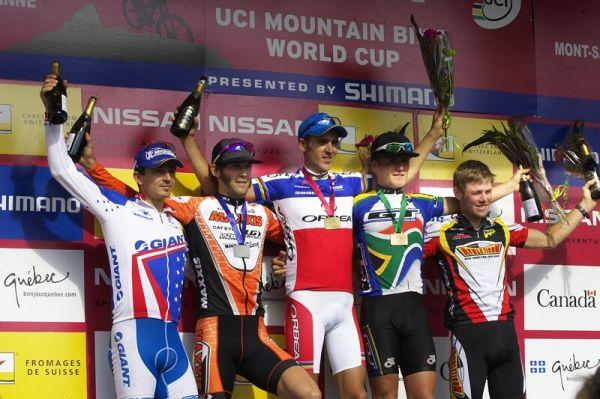 Nissan UCI MTB World Cup XC#6 - Mont St. Anne 27.7. 2008 - 1. Absalon, 2. Kabush, 3. Stander, 4. Craig, 5. Flückiger