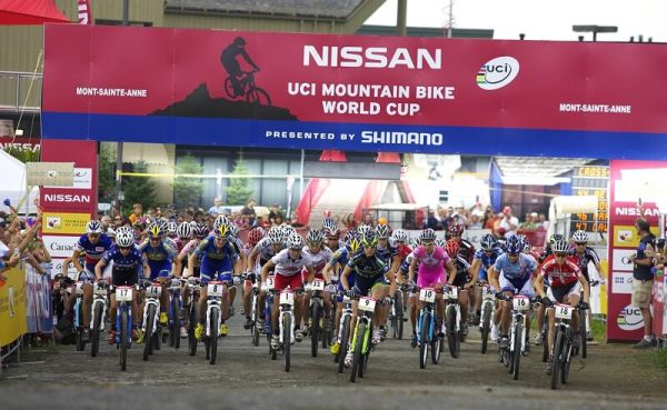 Nissan UCI MTB World Cup XC#6 - Mont St. Anne 27.7. 2008 - start žen