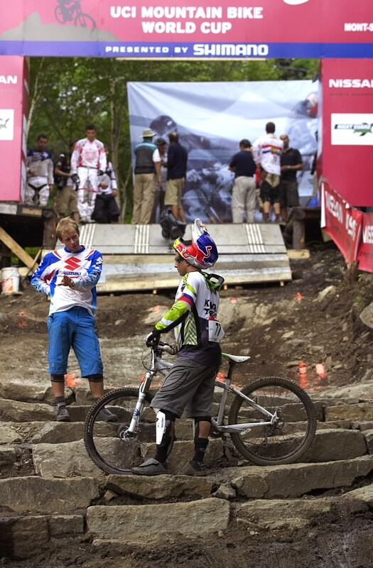Nissan UCI MTB World Cup 4X#4 - Mont St. Anne, 26.7. 2008 - a tady Kamil Tatarkovič s Filipem Polcem