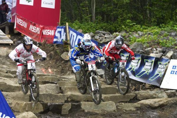 Nissan UCI MTB World Cup 4X#4 - Mont St. Anne, 26.7. 2008 - Tomáš Slavík (č.6)