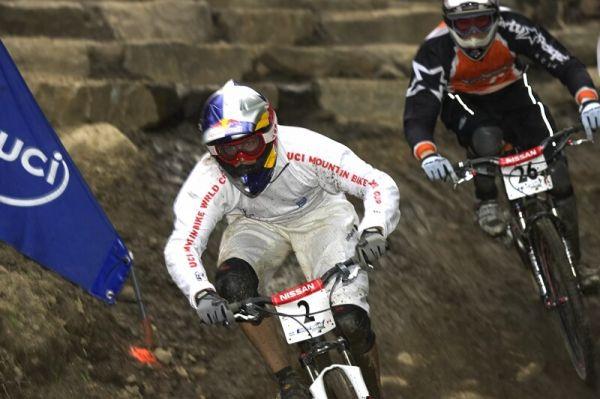Nissan UCI MTB World Cup 4X#4 - Mont St. Anne, 26.7. 2008 - vedoucí SP Němec Giudo Tshugg
