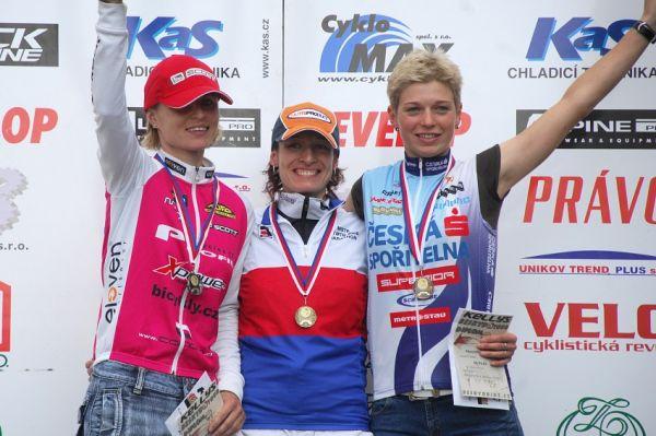MČR Maraton 2008 - Kelly's Beskyd Tour: ženy: 1. Krnáčová, 2. Radová, 3. Stolařová